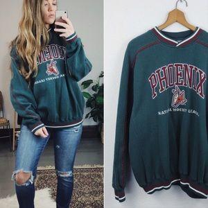 VINTAGE// Phoenix Hockey Crewneck Sweater